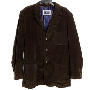 Izod brown corduroy sports coat men's Large